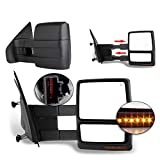 ECCPP Towing Mirrors Replacement fit for 2004-2014 F150 Pickup Side View Mirrors Power Heated Towing Led Turn Signal Pair