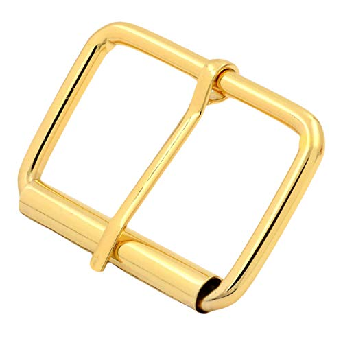 BIKICOCO Roller Buckle, 2 Inches Heel Rolling Bar Buckles for Bags Leather Webbing Straps, Gold - Pack of 10