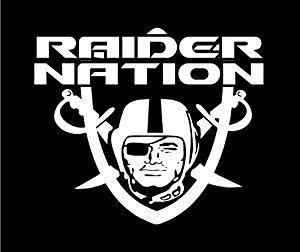 Raiders Nation Sticker 5 X 6