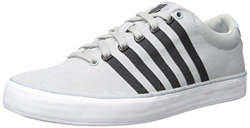 K-Swiss Men's Court Pro Vulc Fashion Sneaker, Highrise/Black/White, 11.5 M (Mens High Rise Canvas Shoe)