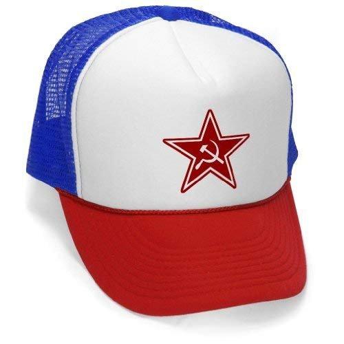 Edwardsxxx COMMUNIST STAR - Cccp Commie Russia Soviet - Retro Vintage Style Trucker Hat Cap Rwb