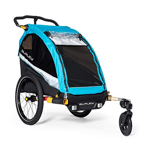 Burley D'Lite X, 1 and 2 Seat Kid Bike Trailer & Stroller with Seat Recline and Suspension