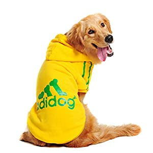 Idepet Spring Autumn Coat/Jacket/Hoodie For Dogs Large Size 3Xl-9Xl (Yellow, 5Xl)