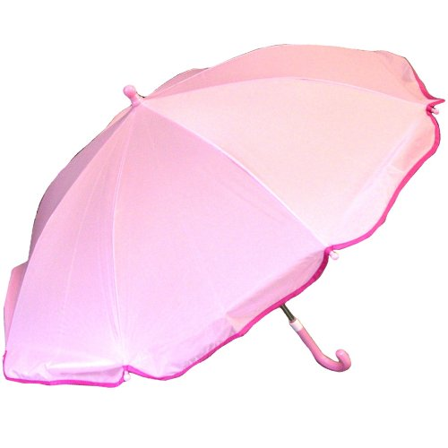 RainStoppers Girl's Umbrella, Scallops Pink, (Pink Scallop)