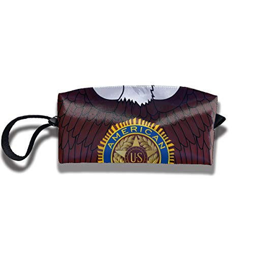 EElason777 American Legion Riders Travel Makeup Cosmetic Pouch Makeup Travel Bag Purse for Women Or Girls