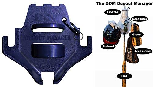 izer for Softball & Baseball Gear Hanger for Bat, Glove, Helmet and Bottle of Water Navy Blue (10 Count) ()