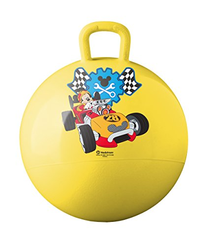 - Hedstrom  Mickey Mouse Roadster Racers Hopper Ball, Hop Ball For Kids, 15 Inch