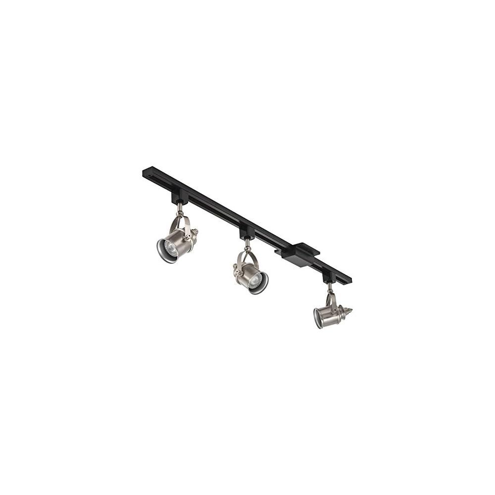"""Lithonia Lighting LTKSPLT MR16GU10 LED 27K BN M4 3-Light LED Spotlight Track Lighting Kit, 44.5"""", Brushed Nickel"""