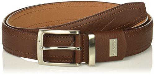(Nike Men's G-Flex Pebble Grain Leather Belt, brown 42)