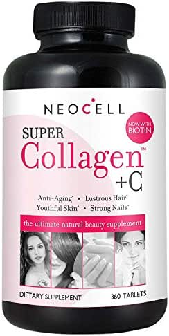 2 PACK - NeoCell Super Collagen Type I & III + Vitamin C - 360 Tablets