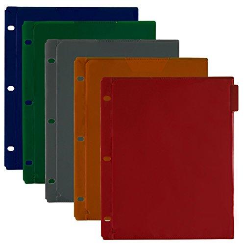 - Five Star Binder Dividers, Flex, NoteProtector, 5 Tabs, Red, Cobalt Blue, Bright Orange, Grey, Green, 5 Pack (34006)