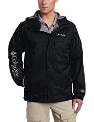 哥伦比亚 男式户外防水冲锋衣HydroTech Packable Rain Jacket SAGE 折后$55.76