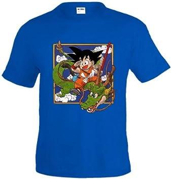 Mx Games Camiseta Dragon Ball - Goku Tapiz - (Talla: 5-6 años, Color: Azul Royal): Amazon.es: Deportes y aire libre