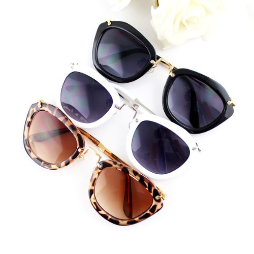 Newest 2014 Fashion Design Square Shape Multi Color Lens Punk Style Sunglasses And Glasses Box For Adult - Newest 2014 Sunglasses