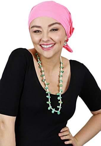 Cancer Headwear for Women Head Scarves Coverings Chemo Scarfs Pretied Cotton Celeste