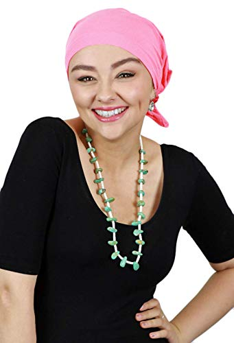 Cancer Headwear for Women Headscarves Chemo Patients Head Scarfs Head Coverings (Pink)