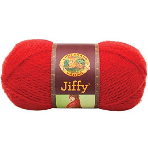 (Lion Brand Yarn 450-114 Jiffy Yarn, True Red)