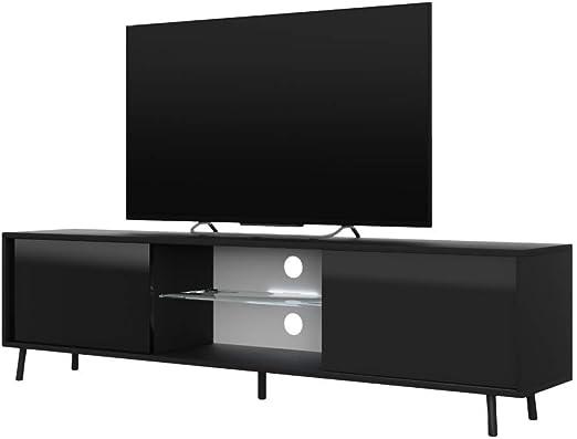 Selsey Mueble para Televisor 140 x 40.5 x 31.3 cm, Color Negro ...