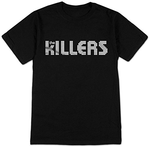Bravado Men's Killers White Logo Shirt, Black, Medium