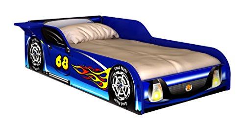 Race Car Driver Frame (Rack Furniture Blue Racer Race Car Toddler Bed)