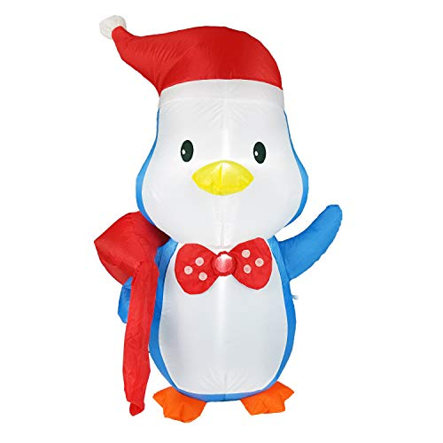 Dreamone 4 Foot Christmas Inflatable Penguin for Christmas Decorations Indoor Outdoor Yard Garden Party Decorations