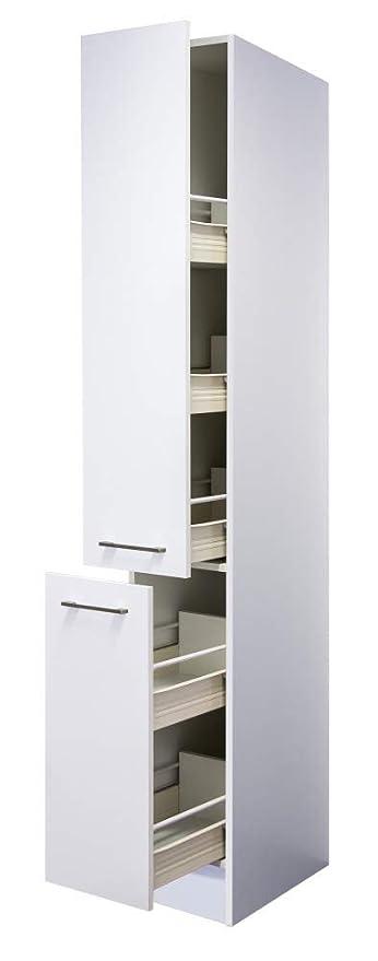 Flex Well Apotheker-Hochschrank 30 x 200 cm Weiß - Nawa: Amazon.de ...