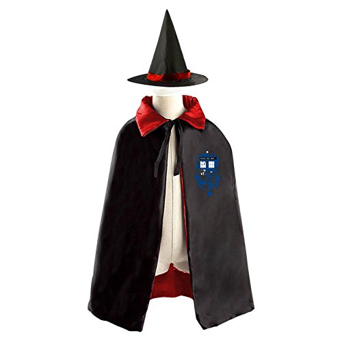 Weird Space House Children's Halloween cape Including WizardCap/Witches/Mantle/Cloak+Hat