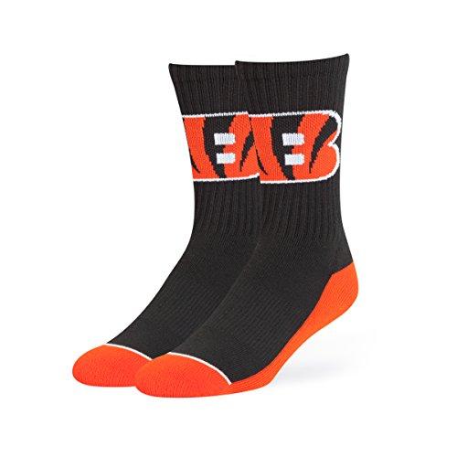 NFL Cincinnati Bengals OTS Anthem Sport Sock, Black, ()