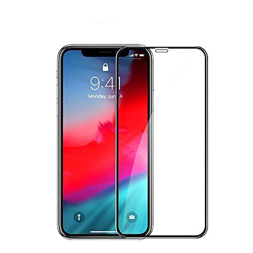 眩惑する上流の忘れるiPhoneXR用 ガラスフィルム TONVER 6.1インチ 強化ガラス液晶保護フィルム 3D曲面 全面フルカバー 硬度9H 飛散防止 指紋防止 気泡ゼロ(黒)