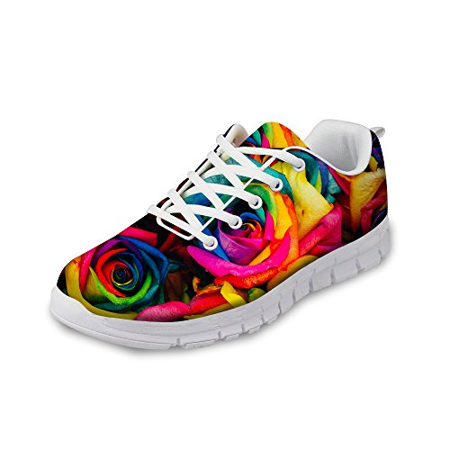 FOR Shoes Sneaker Rose Running Print A2 Women's Walking Comfortable DESIGNS U Multi Vintage Fashion Floral AqfTUBAw