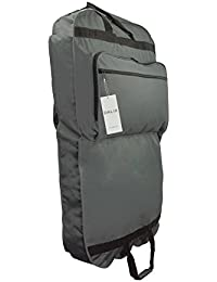 "39"" Grey Business Garment Bag Pockets for Suits Dresses Clothing Foldable"