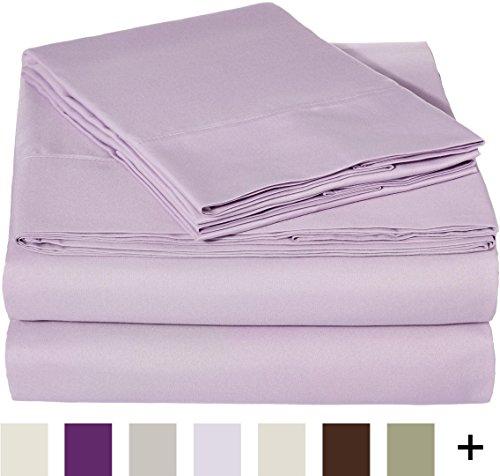 AmazonBasics Microfiber Sheet Set Lavender
