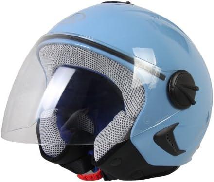 Bhr 50204 Helm Demi Jet Kinder Hellblau 51 52 M Auto