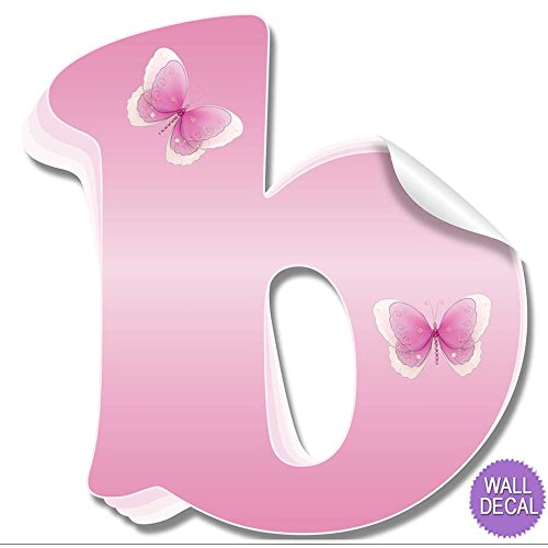 Amazon.com: Wall Letters b Pink Butterfly Decorative Wall Letter for ...