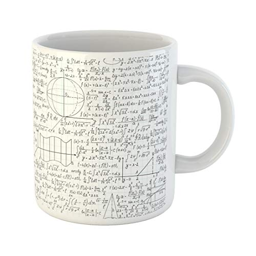 Semtomn Funny Coffee Mug Colorful Mathematical Formulas Plots and Equations You Any Color 11 Oz Ceramic Coffee Mugs Tea Cup Best Gift Or Souvenir