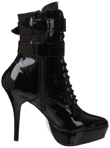 Devious Indulge-1026 Damen Stiefel Schwarz (Black)