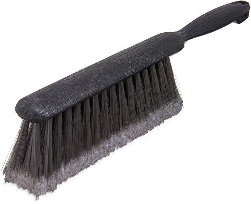 Polypropylene Counter Brush (Carlisle 3621123 Flo-Pac Counter/Bench Brush, Black Plastic Block and Handle, 2-1/2
