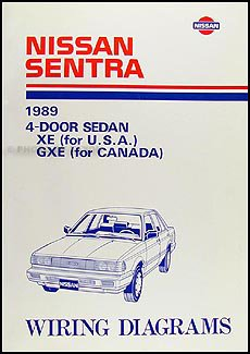 1989 nissan sentra wiring diagram manual original amazon com booksflip to back flip to front