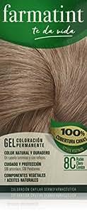 Farmatint Gel 8C Rubio Claro Ceniza. Tinte permanente. Cabello natural y color duradero. Sin amoníaco ni parabenes ni parafinas ni siliconas. Coloración natural para el pelo fácil de aplicar.