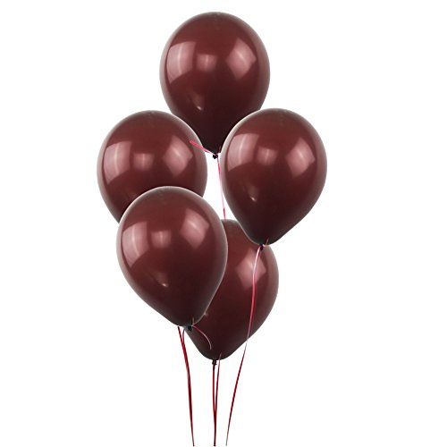 KUMEED Coffee Brown Balloons Latex Balloons Globos Party Birthday Wedding Balloons Pack of 100