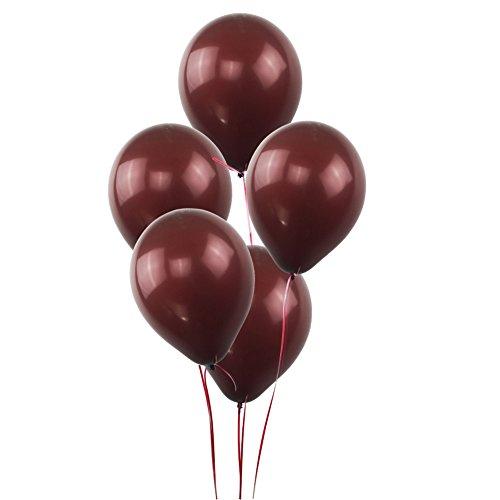 KUMEED Coffee Brown Balloons Latex Balloons Globos Party Birthday Wedding Balloons Pack of 100