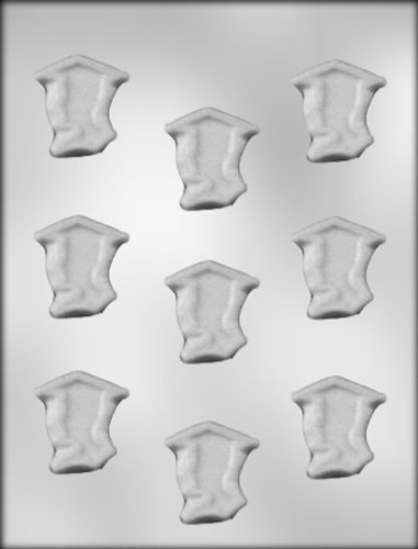CK Products 1-5/8-Inch Boy Graduate Silhouette Mint Chocolate Mold