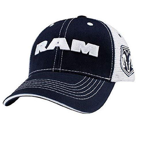 Ram Truck Logo Navy Blue Hat Cap Mesh Style Back