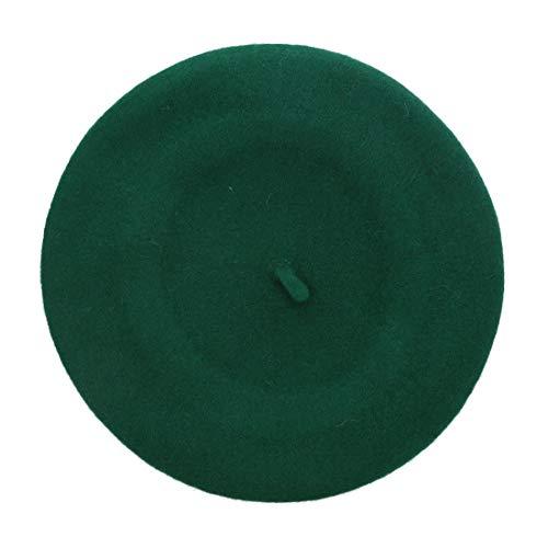 Landana Headscarves Wool Ladies Winter Beret - Green (Green Beret Womens)
