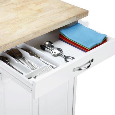Mainstays Kitchen Island Cart, White Finishes