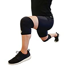 Size M: Knee Sleeves (1 Pair) - 7mm Neoprene Compression Knee Sleeve by Jungle Lift Co.
