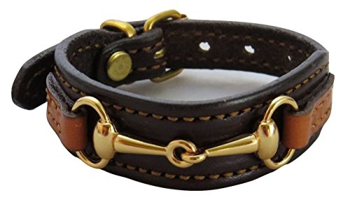Saving Shepherd Fine Leather Equestrian Brass Bit Bracelet