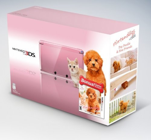 Nintendo 3DS Handheld Console with Nintendogs Cats   Pink