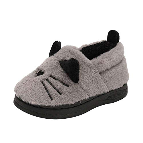 Kids Slippers Cute Cat Winter Indoor Outdoor Booties for Toddler Girls Boys by Luobote (Image #1)