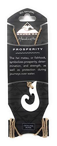 Hawaiian Hand Carved White Genuine Buffalo Bone Fish Hook HEI Matau 32
